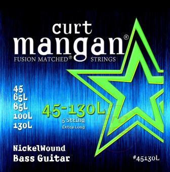 Curt Mangan 45130L Extra Long Nickel 5-String 45/130