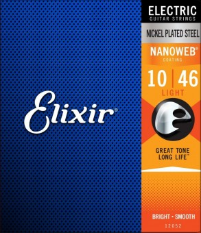 Elixir 12052 Nanoweb Nickel Plated Steel Light 10/46 (EL NW L)