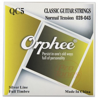 Orphee QC5 Clear Nylon Silver Normal Tension 28-43